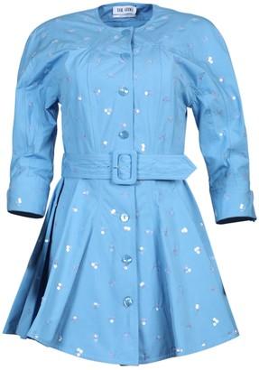 ATTICO Light Blue Mini Dress