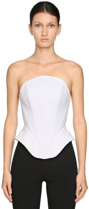 Thierry Mugler Stretch Cotton Gabardine Bustier