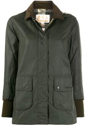Barbour single breasted wax jacket