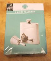 Hot Deal Martha Stewart Collection Stainless Steel 2 Piece Flask Set