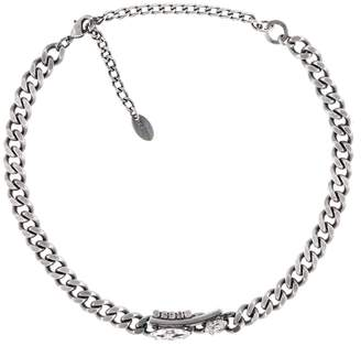 Halo & Co Chocker With Tude Detail In Oxidised Silver Tone