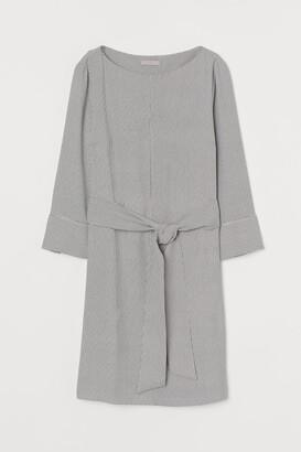H&M Boat-neck Dress - Beige