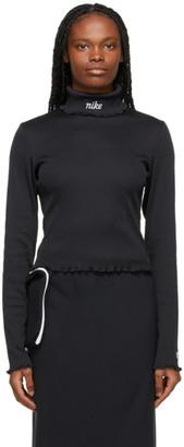 Nike Black Ribbed Sportswear Essential Turtleneck