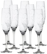 Mikasa Love Story Set of 8 Crystal Champagne Flutes