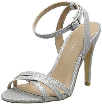 New Look Women's Sharp Open Toe Heels (Silver 92), (41 EU)