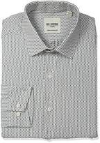 Ben Sherman Men's Skinny Fit Floral Dobby Spread Collar Dress Shirt