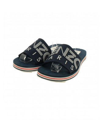 Kenzo Blue Cloth Sandals