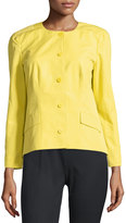 Lafayette 148 New York Reanna Button-Front Jacket, Citron