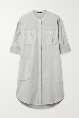 James Perse Cotton-twill Shirt Dress - Light gray