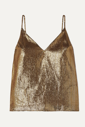 CAMI NYC The Olivia Silk-blend Lame Camisole - Gold