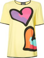 Moschino heart print T-shirt - women - Polyester/other fibers - 42