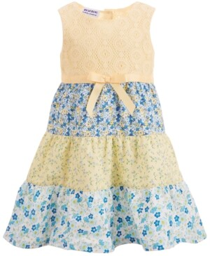 Blueberi Boulevard Baby Girls Tiered Cotton Sundress