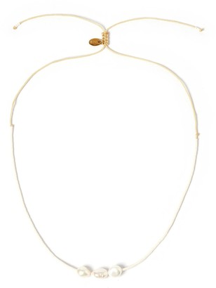 Arms Of Eve Sage Gold & Pearl Choker - White
