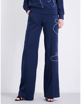 Area Brooksie wide high-rise sports-jersey jogging bottoms