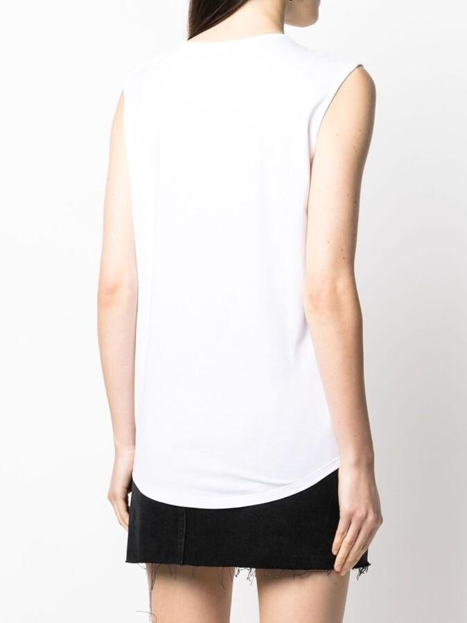 Thumbnail for your product : Balmain sleeveless logo print T-shirt