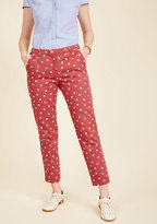 Fly by the Chic of Your Pants in Red Dots in XL