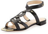 Pour La Victoire Kassia Golden-Studded Casual Sandals, Black