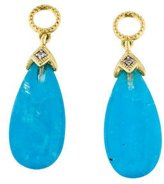 Jude Frances 18K Turquoise & Moonstone Triplet & Diamond Drop Earring Charms