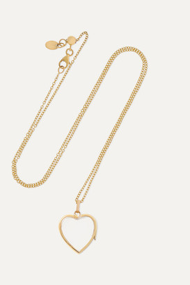 Loquet 14-karat Gold And Glass Necklace - one size