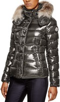 Moncler Armoise Fox Fur Hooded Down Jacket