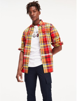Tommy Hilfiger Regular Fit Plaid Flannel Shirt