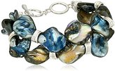 "Robert Lee Morris Set Sail"" Shell Stone 2 Row Toggle Bracelet, 9"""