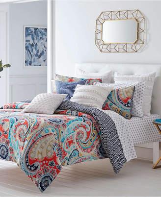 Trina Turk Mirage Paisley Fusion Coral Comforter Set, Twin Bedding