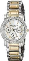 Akribos XXIV Women's AK530TT Diamond Multi-Function Crystal Bracelet Watch