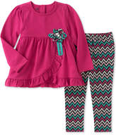 Kids Headquarters 2-Pc. Ruffled Tunic and Leggings Set, Little Girls (4-6X)