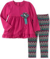 Kids Headquarters 2-Pc. Ruffled Tunic & Leggings Set, Little Girls (4-6X)