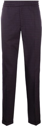 Paul Smith Micro-Check Pattern Wool Trousers