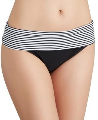 Panache Anya Stripe Fold-Over Bikini Bottom