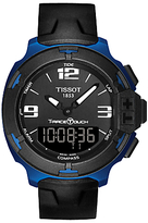 Tissot T0814209705700 T-race Touch Split Chronograph Silicon Strap Watch, Black