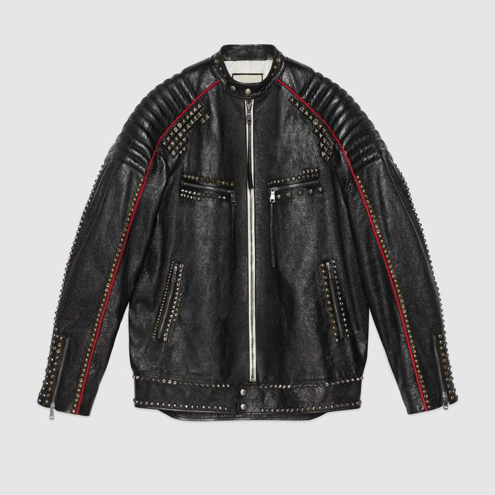 """Gucci """"Magnetismo Animale"""" studded leather jacket"""