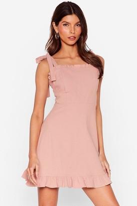 Nasty Gal Womens Can't Tie My Love Ruffle Mini Dress - Rose