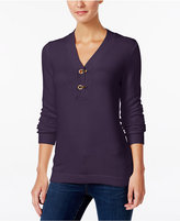 Charter Club Petite Henley Sweater, Only at Macy's