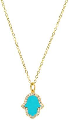 Kamaria Turquoise Hamsa Hand Necklace
