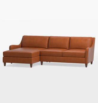 Rejuvenation Vailer Leather 2-Piece Chaise Sectional Sofa - Left Chaise