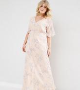Asos Wedding Maxi Dress In Soft Rose Print