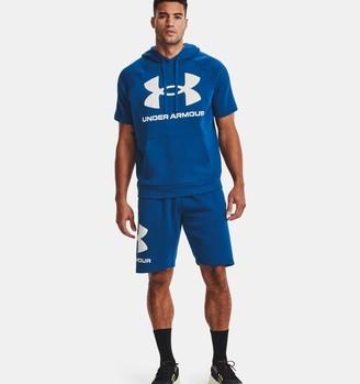 Under Armour Men's UA Rival Fleece Big Logo Short Sleeve Hoodie