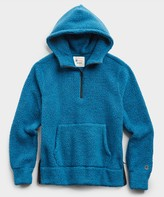 Todd Snyder + Champion Polartec Sherpa Hoodie in Slate Teal