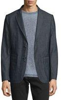 John Varvatos Two-Button Cotton Blazer, Indigo
