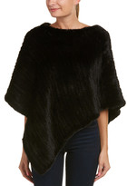 La Fiorentina Women's Knit Triangle Poncho