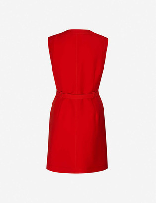 Gucci Sleeveless wool and silk-blend mini dress