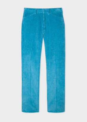 Men's Turquoise Corduroy Trousers