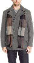 London Fog Men's Wool Blend Double Breasted Pea Coat