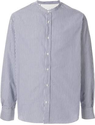Officine Generale Mandarin collar striped shirt