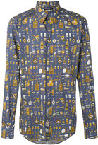 Dolce & Gabbana musical instrument print shirt - men - Cotton - 39