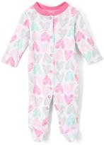 Baby Starters Hot Pink Heart Footie - Infant