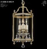 clear Smyth 3 - Light Lantern Cylinder Pendant Astoria Grand Finish: Empire Bronze, Crystal Type: Precision Crystal Oval